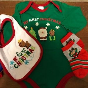Other - Lot Of 3 Pcs My First Christmas 6-9 Mo